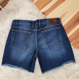 "Lucky Brand Frayed Hem ""Abbey"" Faded Jean Shorts"
